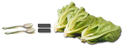 2 Tablespoons Olive Oil = 3 Heads Lettuce