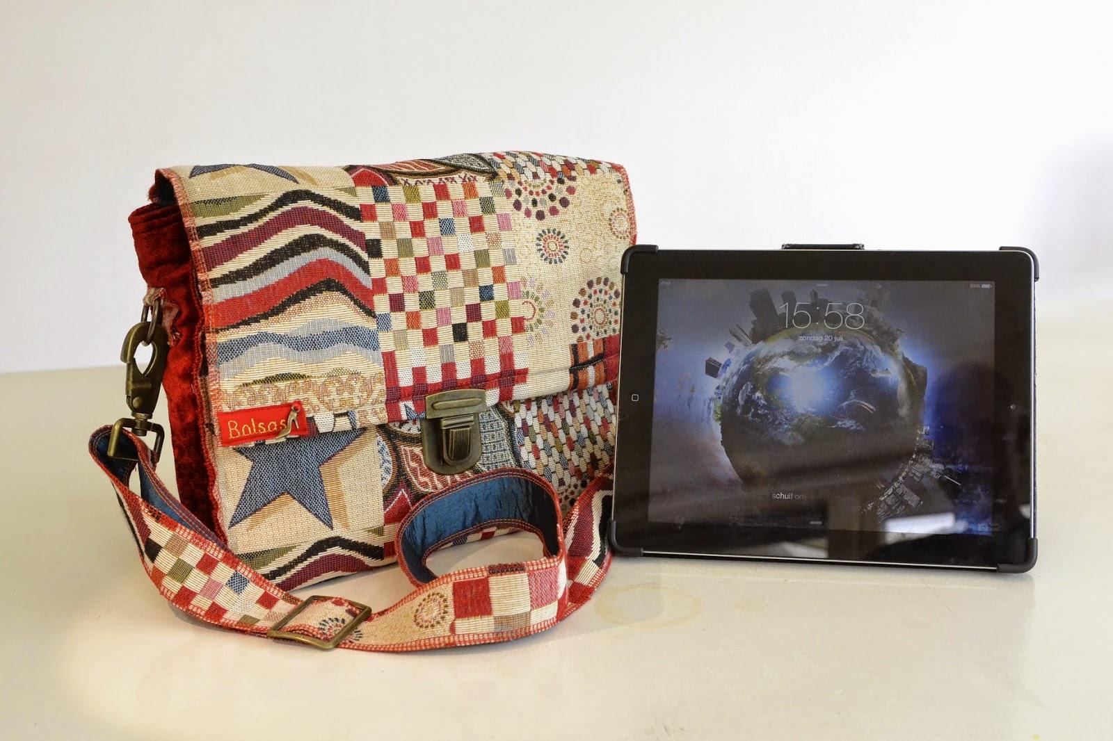 Bolsas-Tassen, unieke handgemaakte tassen, i-pad tas