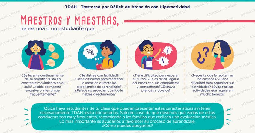 MINEDU brinda orientaciones a los docentes sobre el TDAH