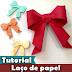 Como fazer Laço de Origami   Enfeite   Tutorial   PAP