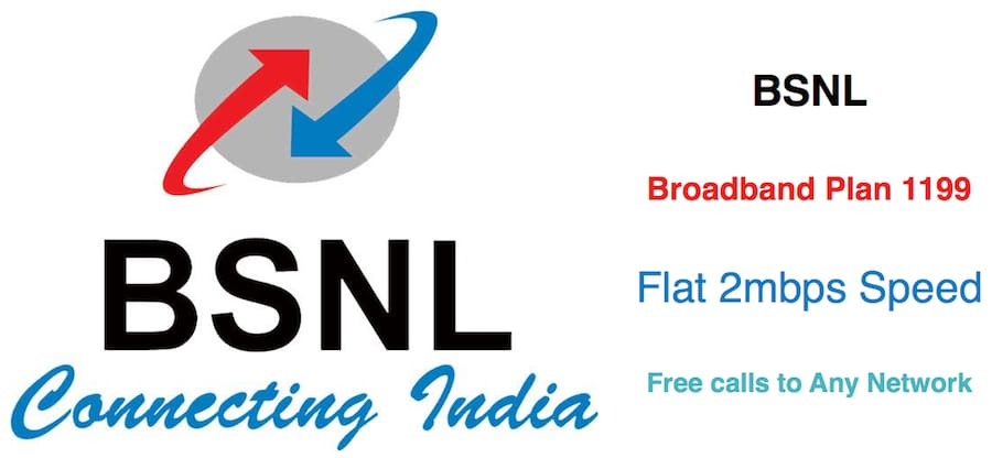 1199 BSNL Broadband Plan with 2mbps Speed & Free Calling | PBSMLINKS
