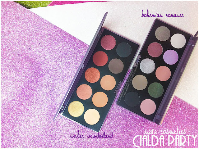 amber wonderland bohemian romance swatches neve cosmetics cialda party review recensione makeup