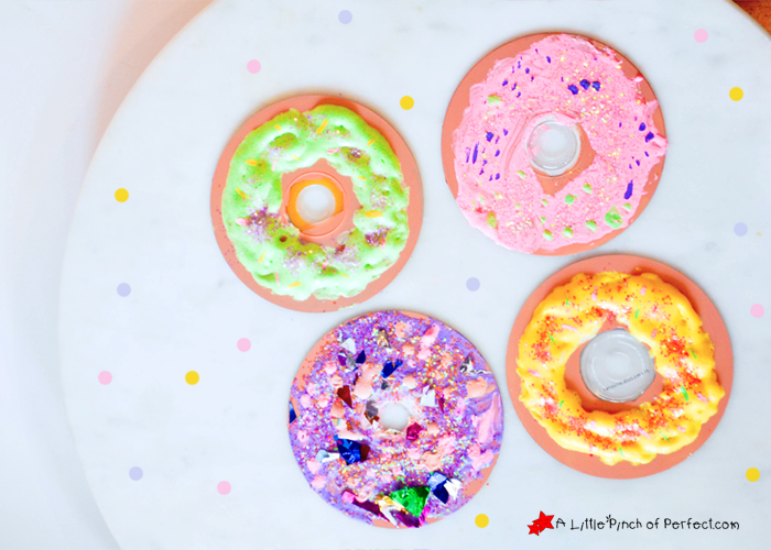 Adorable Recycled Cd Doughnut Craft For Kids