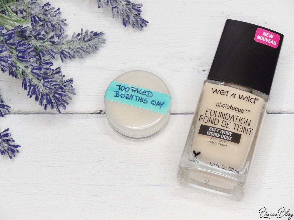 Wet n Wild Photo Focus Soft Ivory, Too Faced Born This Way puder
