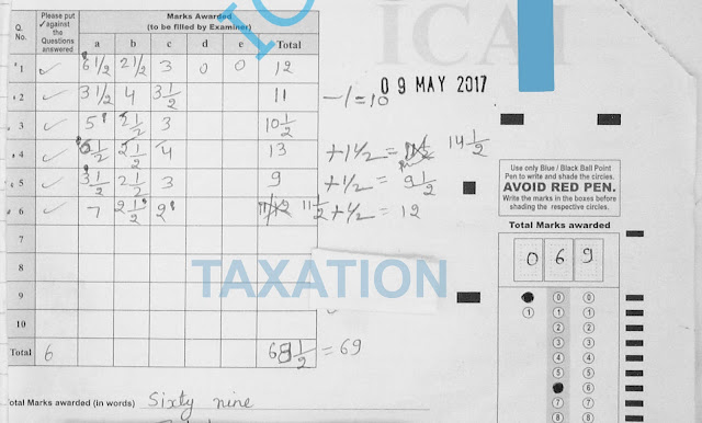ipcc taxation certified copies answer sheet