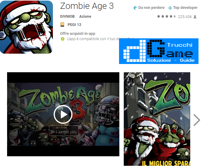 Trucchi Zombie Age 3 Mod Apk Android v1.1.9