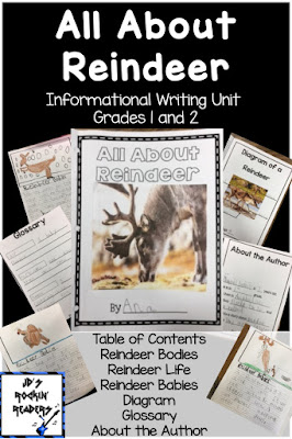 "Your 1st and 2nd grade classroom or homeschool students will become pros at reindeer with this reindeer writing activity! Then you can use this resource to branch off to other animals! This resource is great to use during the month of December as a guided writing OR independent writing project. Then - once they've gotten the hang of it - your students will be able to write more ""All About Animals"" reports later in the year. Click through to check it out today! {first & second grader}"