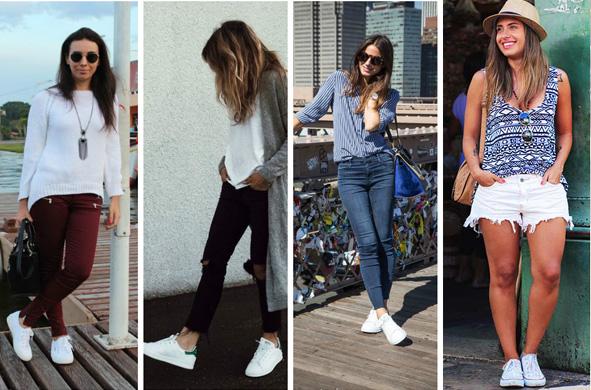 Calças + tênis branco