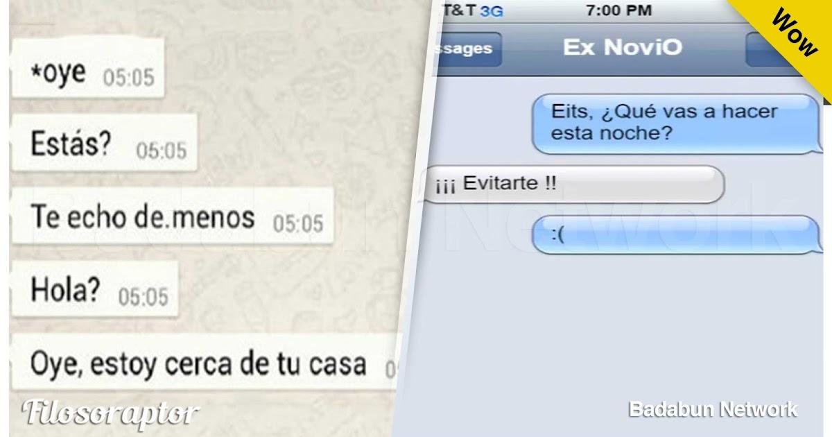 mensajes whatsapp chat ex novia exnovia graciosos