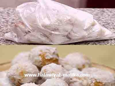 طريقة عمل حلى بيض القطا أو حلويات القطب