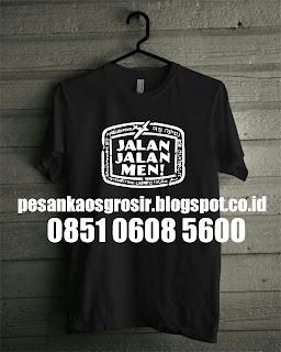 Grosir Kaos Oblong Sablon Online Murah di Malang
