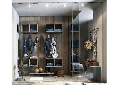 modern dressing room ideas creative shelving system