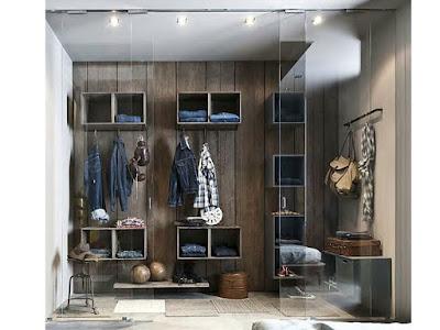 modern dressing room ideas creative shelving system