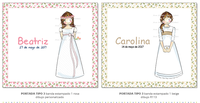 libro firmas comunion personalizado niña bonito estilo