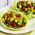 Turkey Lettuce Wrap Tacos with Tomato-Avocado Salsa