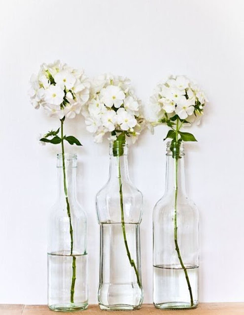 Decorate With Glass Bottles And Flowers 2