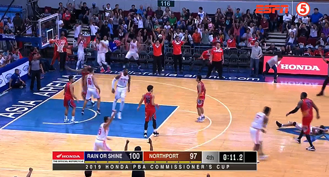 NorthPort def. Rain or Shine, 107-105 in OT Thriller (REPLAY VIDEO) June 19