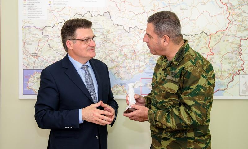 Εθιμοτυπική συνάντηση του Αντιπεριφερειάρχη Έβρου με το νέο Διοικητή του Δ' Σώματος Στρατού