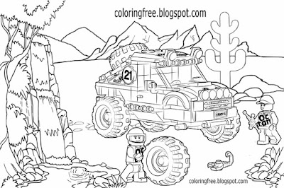 Ultimate vehicle desert sand buggy advanced model technic Lego car coloring image for older boys art