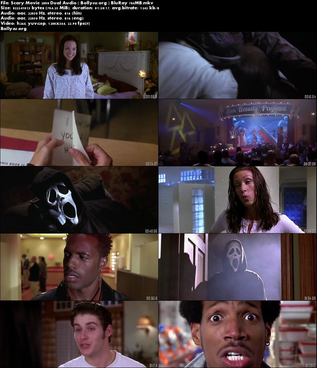 Scary Movie 2000 BluRay Hindi 750MB Dual Audio 720p Download