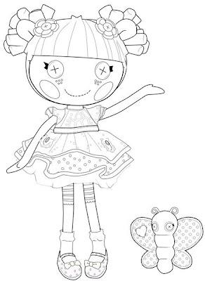 muñeca lalaloopsy con mariposa