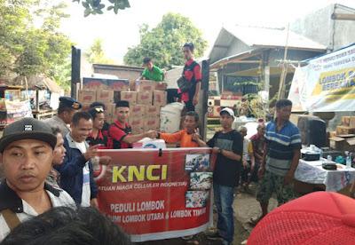 KNCI Salurkan Bantuan Peduli Korban Gempa Lombok
