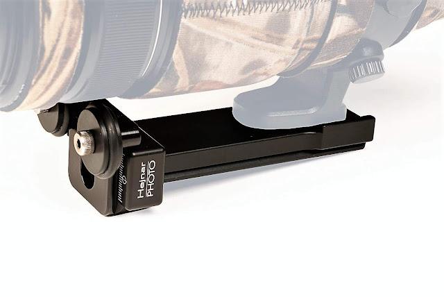 Hejnar PHOTO LLFP-FUJI-100-400 modular Lens Support on Fujifilm XF 100-400mm f/4.5-5.6 R LM OIS WR side