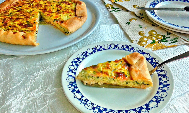 salmon and vegetables pie recipe