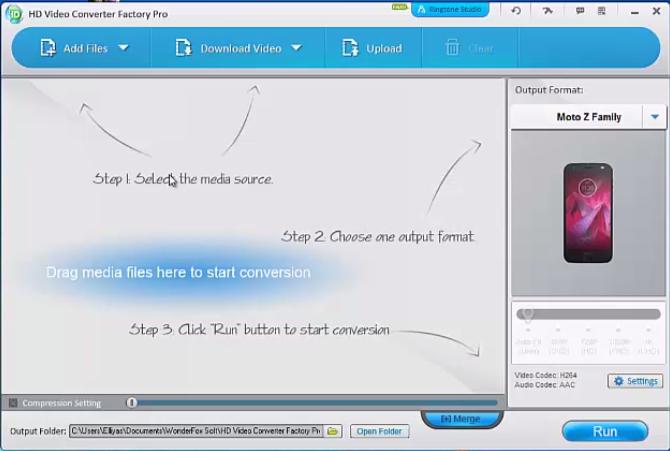 Screenshot of HD Video Converter Factory Pro