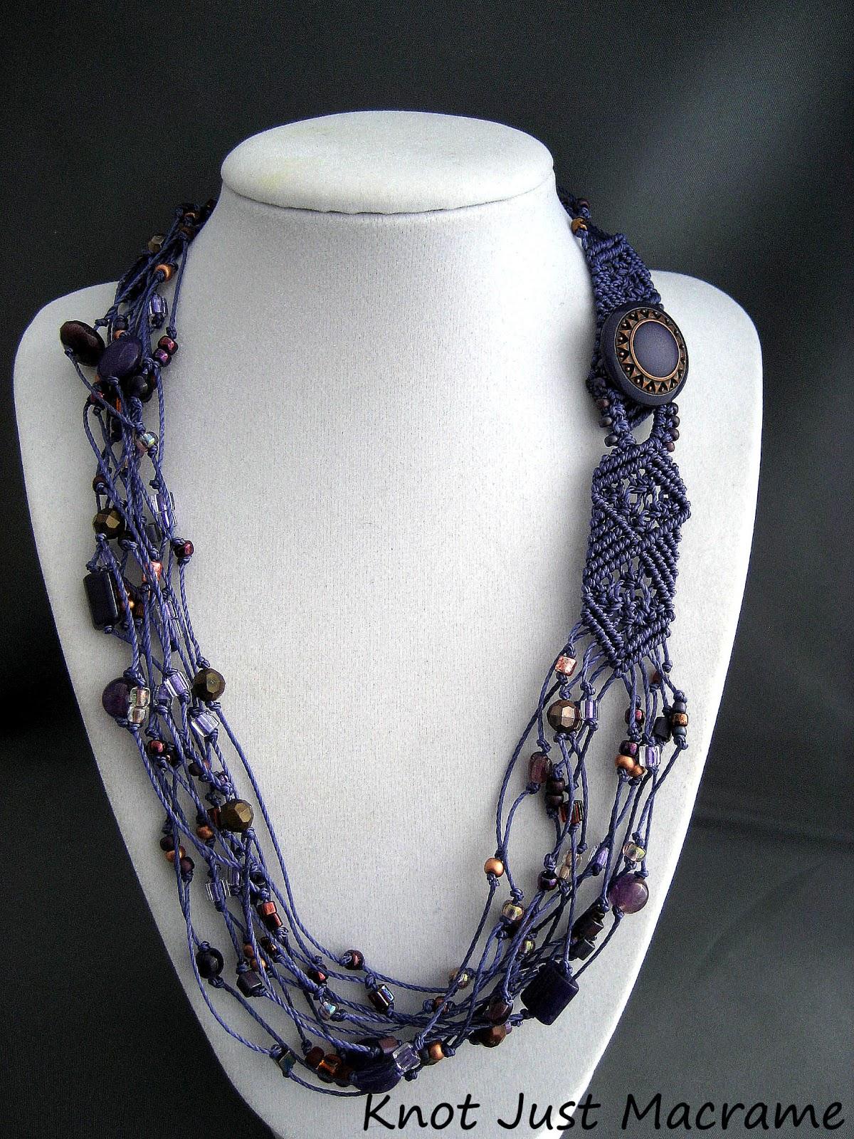 Knot Just Macrame by Sherri Stokey: Beaded Macrame Necklaces