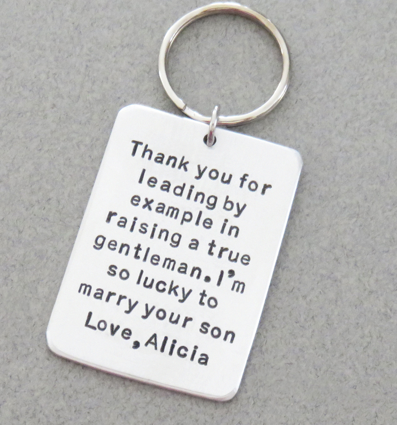 Stamped personalized wedding gifts, jewelry, key chains, funny cards ...