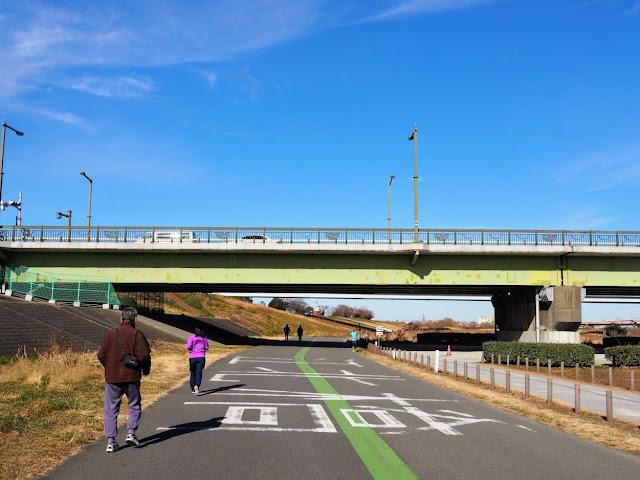 荒川自転車道 江北橋