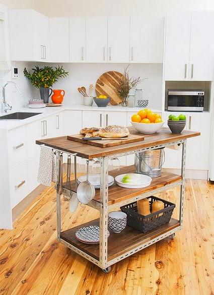Deco] Ideas para colocar una isla en cocinas pequeñas | Decoración