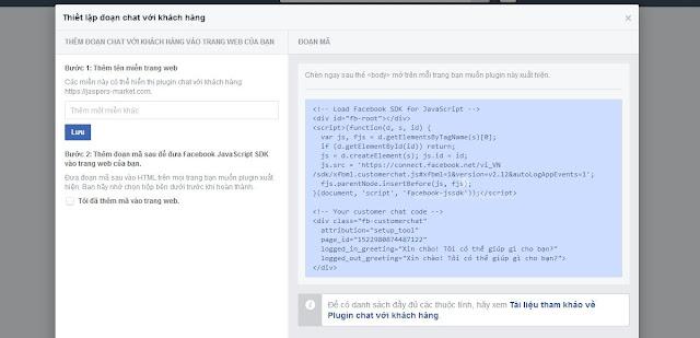 Cài đặt Plugin chat với khách hàng
