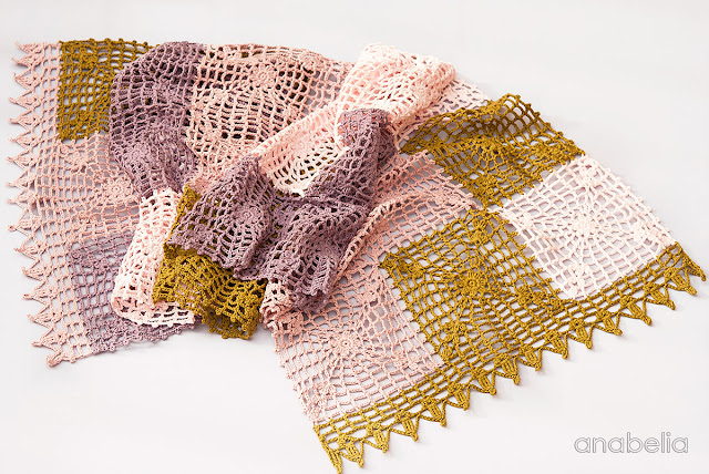 Mary crochet scarf pattern by Anabelia Craft Design
