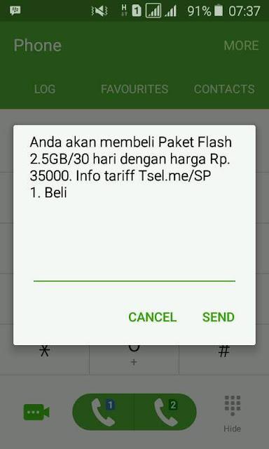 Promo Terbaru Paket Internet Telkomsel 2.5GB cuma 35rb *363*834#