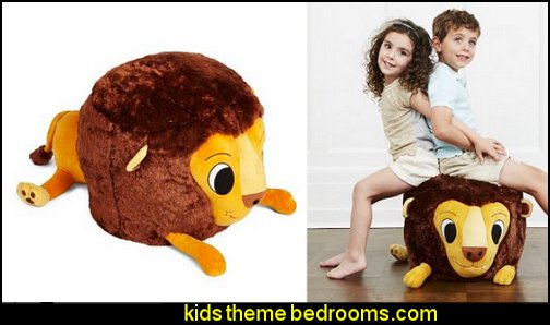 Stuffed Lion Chair circus bedroom ideas - circus theme bedroom decor - carnival theme bedrooms - decorating circus theme bedrooms - Ice Cream theme decor - balloon decor - Disney Dumbo - circus party theme - Roller Coaster Amusement Park wall decals - ice cream party decorations