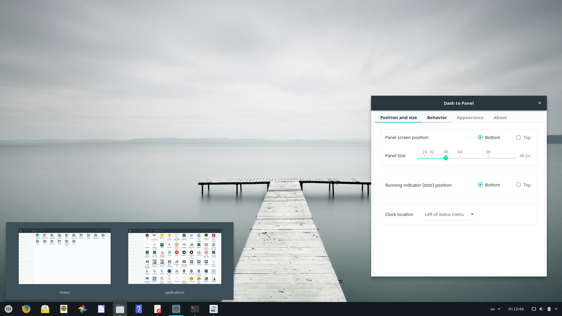 Dash To Panel` Is A Cool Icon Taskbar For GNOME Shell ~ Web Upd8