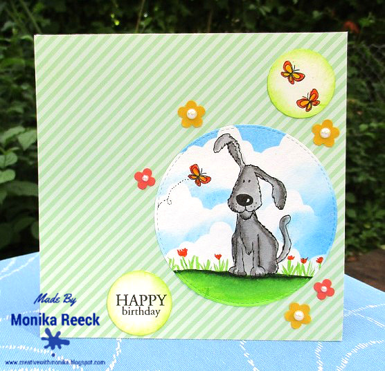 Creative With Monika 2 Birthday Cards one with Dog Theme one – Birthday Card from Dog