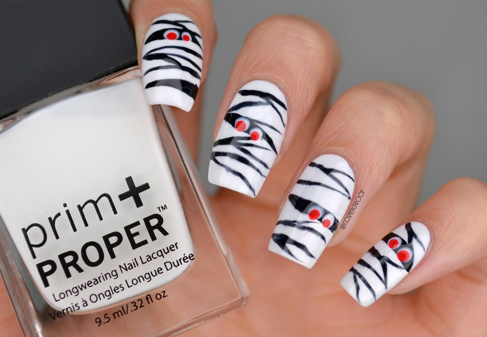 Nails Spook Tacular Mummymonday Cosmetic Proof Vancouver