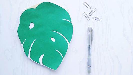 DIY Monstera Leaf Notebook  - La creme