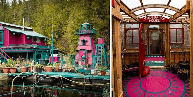Unik, Pasangan Ini Membangun Rumah Dan Taman Di Atas Air