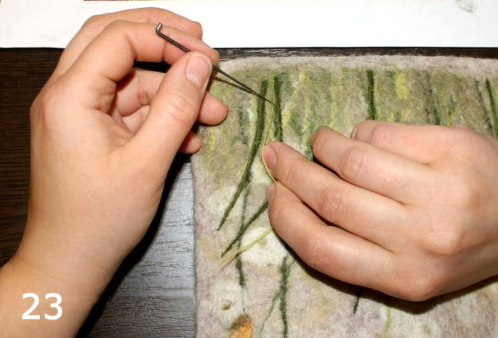 Case for tablet - felting from wool - tutorialCase for tablet - felting from wool - tutorial