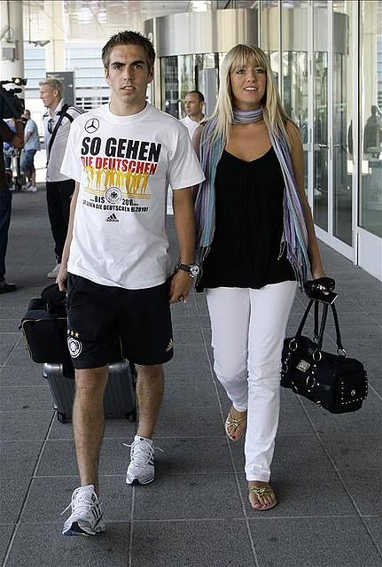 3c122c00 Philipp Lahm and his wife Claudia Schattenberg
