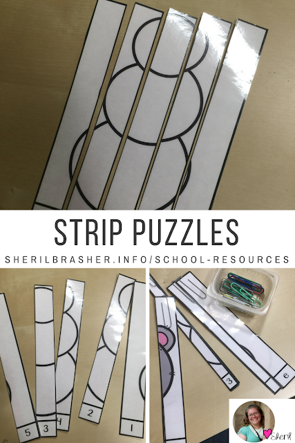 Strip Puzzles are a great way to teach students ordering numbers, spelling or even number and letter recognition. Check out these Bilingual Color Strip Puzzles over at sherilbrasher.info/school-resoureces and see how we are using them for intervention in our classrooms.