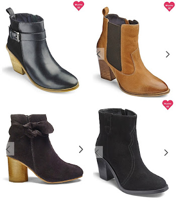 My 4 ankle boots choices from Simply Be