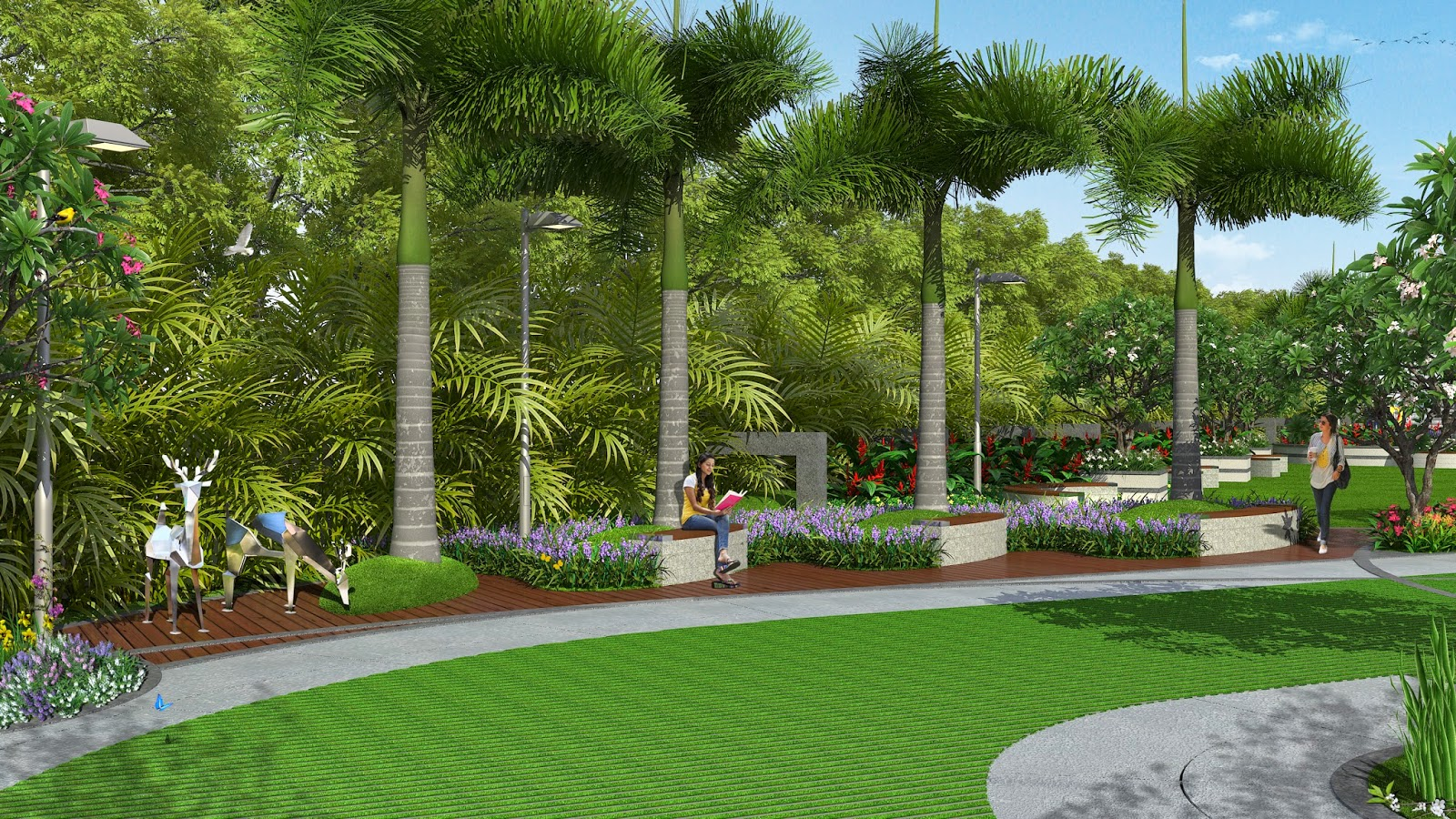 3d interiors exteriors landscape 3d views working with for Garden design level 3