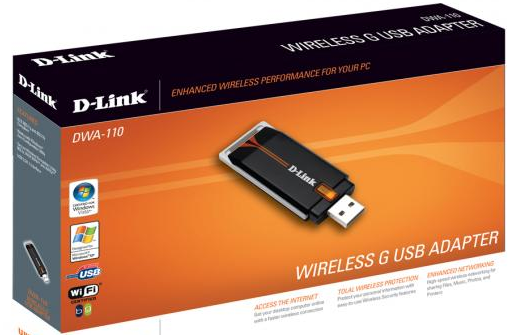 D-LINK WIRELESS G USB ADAPTER DWA-110 WINDOWS 7 DRIVER