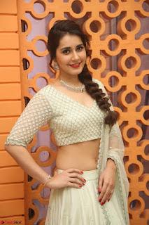 Raashi Khanan looks stunning in Crop Top Deep neck Choli Ghagra Transparent Chunni WOW ~  Exclusive Celebrities Galleries 037.JPG