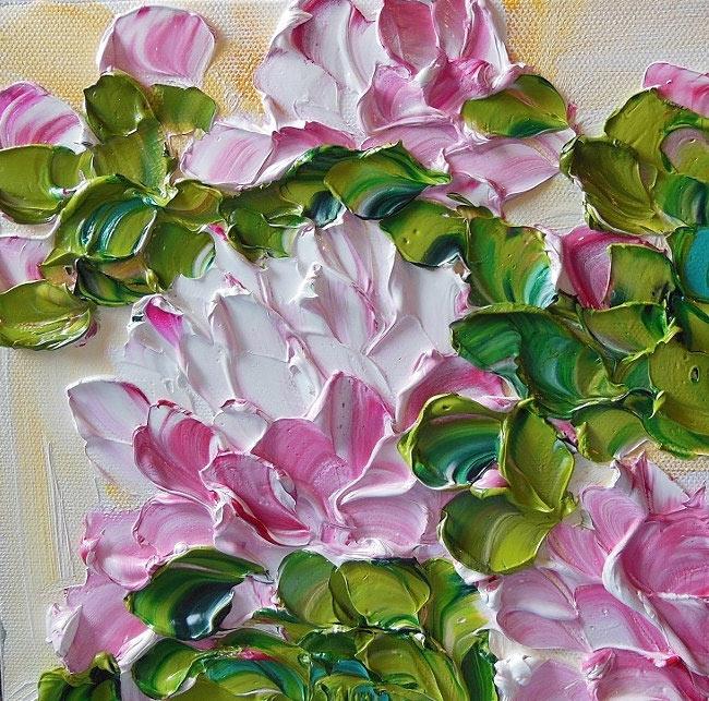 Exquisitas pinturas al óleo de flores por Ene Ironside